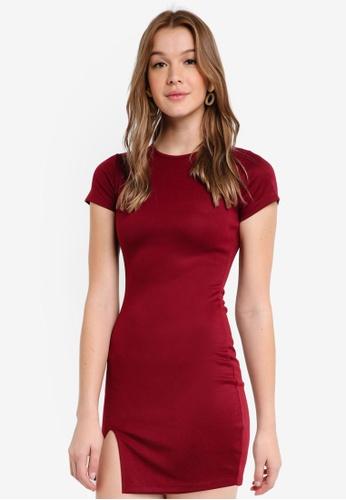 ZALORA BASICS red Basic Short Sleeves Bodycon Dress FD1FDAA0693722GS_1