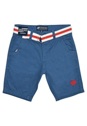 Moose Gear blue Short Pants Twill With Belt For Boys 0A6A8KAA381686GS_1