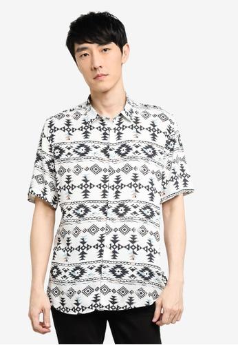 KOTON white Printed Shirt 99580AA1AEDA41GS_1