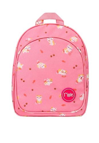 Ripples pink Kittens Digital Print Kids Backpack C48D0KC2D9E012GS_1