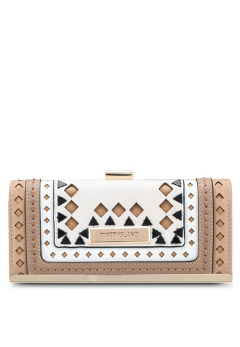 River Island beige Neutral Triangle Embellished Cliptop Purse EFF5DAC612C84AGS_1