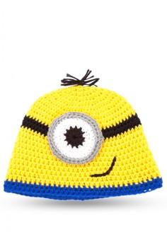 Minion Inspired Crochet Beanie