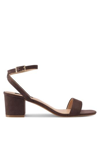 ZALORA brown Minimalist Low Chunky Heel B6AD8SHD15ACBEGS_1