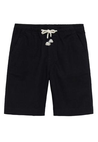 MANGO KIDS black Linen-Cotton Blend Bermuda Shorts 8AFE7KA6E51EF4GS_1