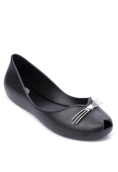 Cat Peep-Toe Flats