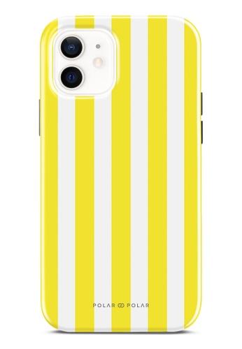 Polar Polar yellow Yellow Stripe Dual-Layer Tough Case Glossy For iPhone 12 Pro / iPhone 12 A996DACA18DFE3GS_1