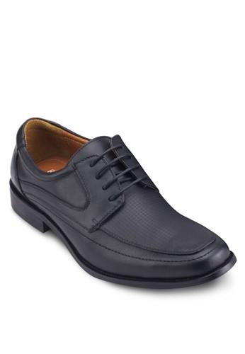 zalora 衣服尺寸方頭繫帶商務皮鞋, 鞋, 鞋