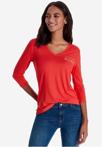 LC WAIKIKI red Letter Printed T-Shirt 9B6A4AABDF45D8GS_1