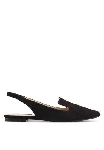 ZALORA black Loafer-style Slingback Flats 0394BSH3A6DD9DGS_1