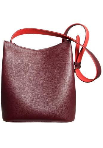 72 SMALLDIVE red 72 Smalldive Womens Shoulder Hobo Handbag Tote With Bordeaux-Coral Strap 93899AC3B75A45GS_1