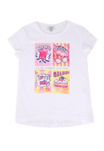 OVS white Girls Graphic T-Shirt DB285KAF3065B4GS_1