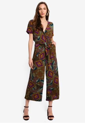 Desigual green African Geometric Print Jumpsuit 30941AA6F47FB5GS_1