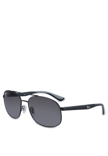 Ray-Ban black RB3593 Sunglasses 671B4GLE7F3AD4GS_1