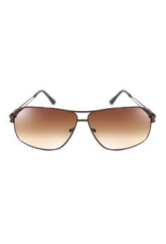 Evan Rectangle Aviator Men's Sunglasses 007-Y