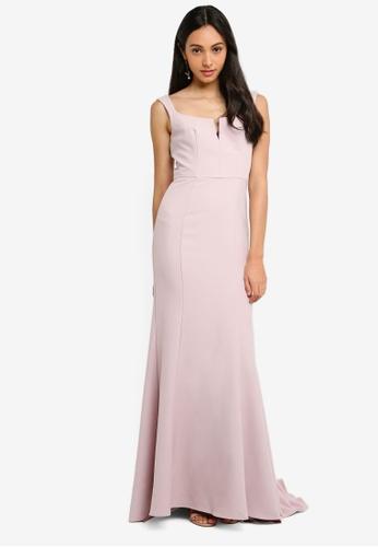 JARLO LONDON pink Skylar Evening Dress 4433BAAF2AF02DGS_1