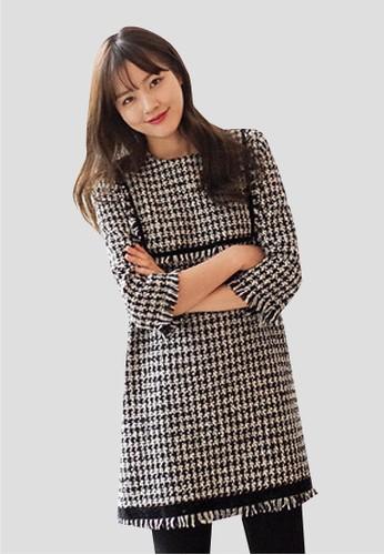 圓領迷你esprit outlet 台灣連衣裙, 服飾, 短洋裝