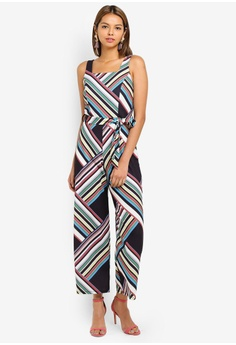 19f5f66043b 60% OFF Miss Selfridge Petite Multi Bold Stripe Jumpsuit HK  560.00 NOW HK   223.90 Sizes 4 6 8 10 12