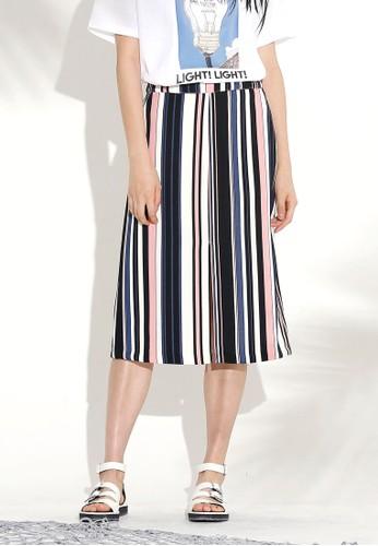 多色條紋短esprit服飾裙, 韓系時尚, 梳妝