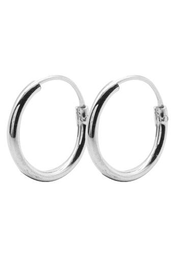 Elfi silver Elfi 925 Genuine Sterling Silver Latch Hoop Earrings SE-10M EL186AC91SJKMY_1