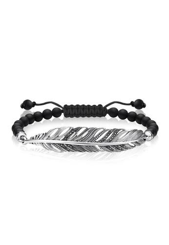 "Thomas Sabo black Bracelet ""feather"" TH376AC0GMS3SG_1"