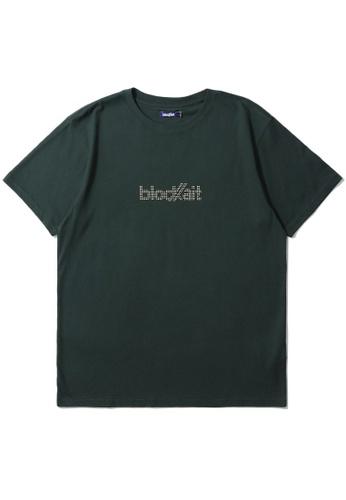 BLOCKAIT green Studs logo tee B5535AAE7B72E9GS_1
