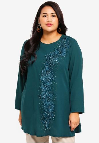 BYN green Plus Size Muslimah Blouse B4937AAC47DEA0GS_1