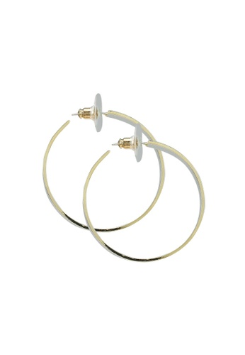 Red's Revenge gold 14K Gold Plated Bold Shine Hoop Earrings 5F8A4AC6BB7F64GS_1