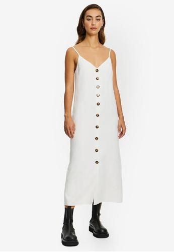 St MRLO white Samui Midi Dress 651F9AA966B631GS_1