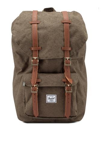 Herschel green Little America Backpack 805A6AC6CA0CF5GS_1