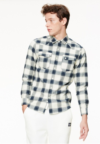 Life8 blue Casual Checked Flannel Shirts-03885-Blue LI283AA0GQB3SG_1