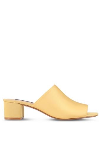 ZALORA yellow Low Chunky Slip On Heels 3D320SH3AC1250GS_1