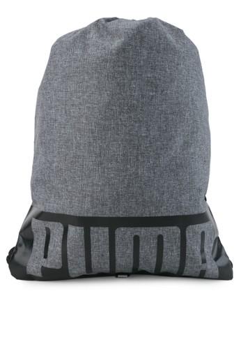 PUMA grey Deck Gym Sack Bag II 523BAACEF6F551GS_1