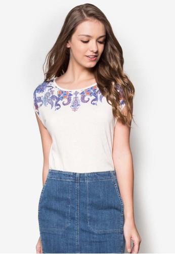 佩斯利印花短袖TEE、 服飾、 服飾ESPRIT佩斯利印花短袖TEE最新折價