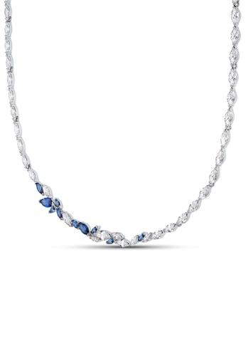 Swarovski blue Louison Necklace 44268AC5CFF95DGS_1