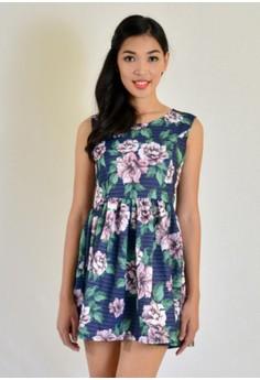 mini printed floral dress