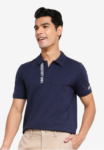 GUESS blue Lyle Short Sleeves Polo Shirt 2FFABAABFA93DBGS_1