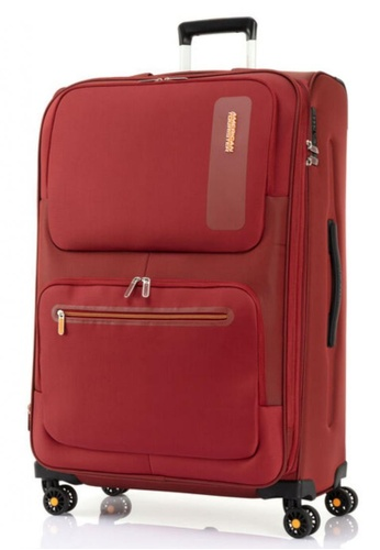 American Tourister red American Tourister Maxwell Spinner 81/30 Exp TSA 6477BAC0CEC5ABGS_1