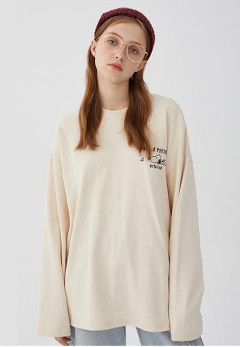 Twenty Eight Shoes Loose-Fitting Printed Long T-shirt HH0889 5F25FAAE4B4F11GS_1