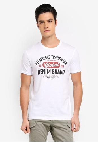 ESPRIT white Short Sleeve T-Shirt E96E3AADBF8C2BGS_1