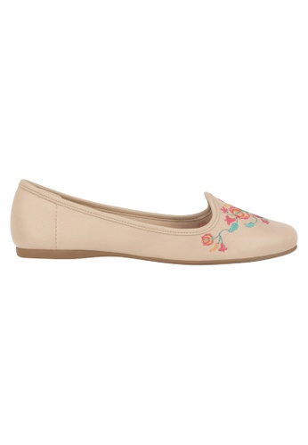 Beira Rio multi and beige Embroidered Floral Design Flats BE995SH83ESIHK_1