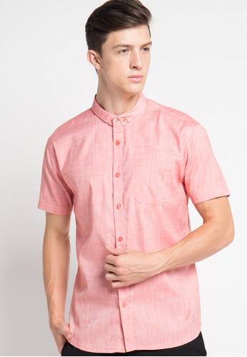 H&R orange S/S Linen Shirt HR579AA61XCKID_1