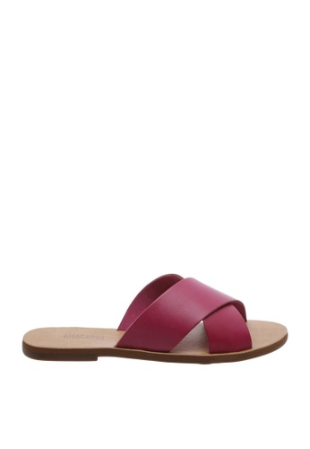 Anacapri 粉紅色 Cross Flat Sandals 70D92SH8BF713FGS_1