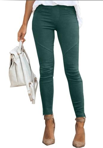 Twenty Eight Shoes 綠色 VANSA 時尚緊身彈性長褲 VCW-P0008 F96F1AA53180B0GS_1
