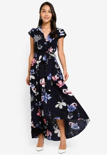 a87c770e51e5af Buy AX Paris Floral Maxi Wrap Dress   ZALORA HK