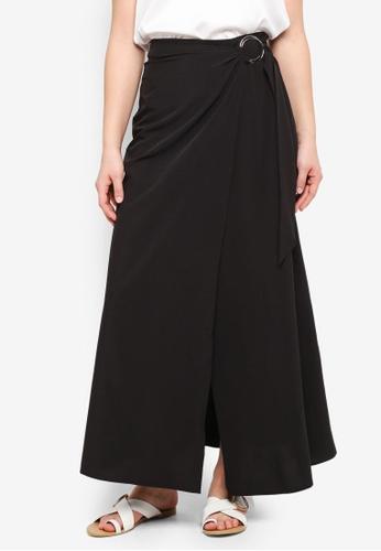 Something Borrowed black Ring Detail Maxi Skirt A9A54AA587F7F0GS_1