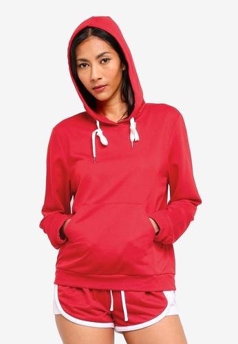 ZALORA BASICS red Basic Long Sleeves Hoodie Sweatshirt 24FE7AAAB289AAGS_1