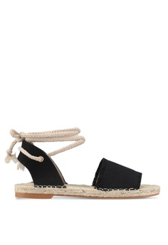 ZALORA black Laced-up Espadrilles 4094FSH312BADEGS_1