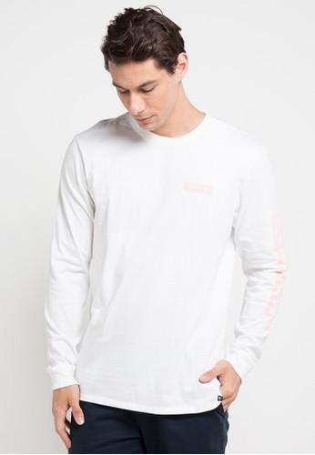 hurley white Cre Arm Long Sleeve T-Shirt 113A3AA565B235GS_1