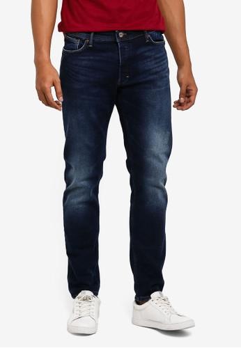 MANGO Man blue Slim-Fit Faded Dark Wash Tim Jeans F8DC4AA132AB9CGS_1
