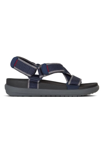 FitFlop navy Fitflop Sling II Back-Strap Sandal In Wbng Midnight Navy / Charcoal 0F85BSH9B72037GS_1